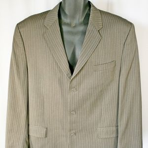 Calvin Klein 42R Pinstripe Sports Suit Jacket Coat